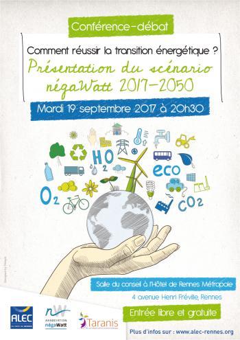 Conférence-débat « Comment réussir la transition énergétique ? » : le scénario négaWatt 2017-2050