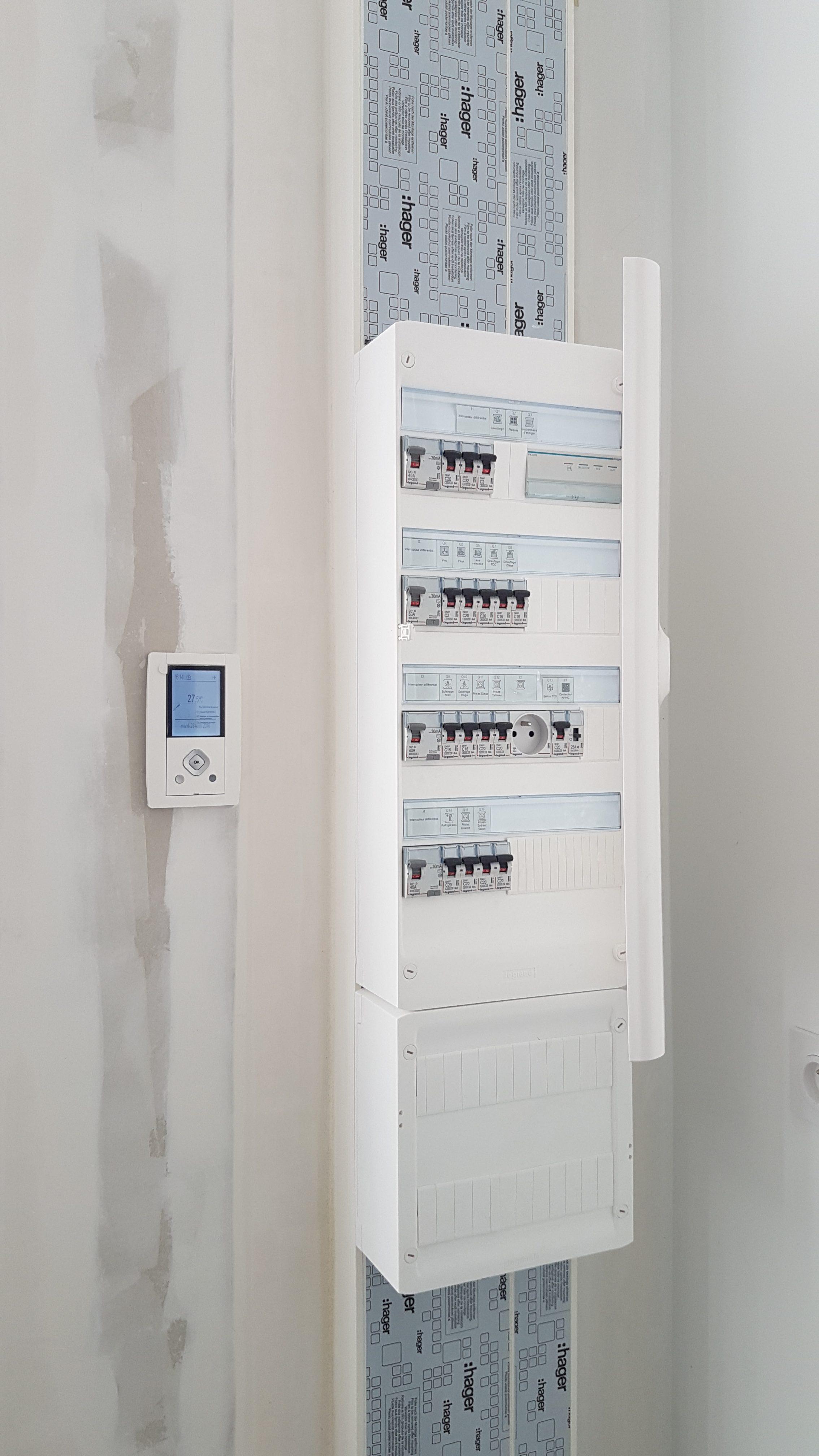 Rénovation électrique d'une maison individuelle à Bruz